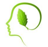 Myśleć zieleni save ziemię Fotografia Stock
