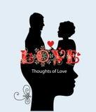 Myśli miłości para Fotografia Royalty Free