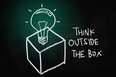 Myśli Outside pudełko royalty ilustracja