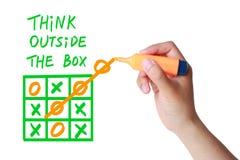 Myśli Outside pudełko Obrazy Stock