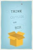 Myśli outside pudełkowaty pojęcie Zdjęcia Royalty Free