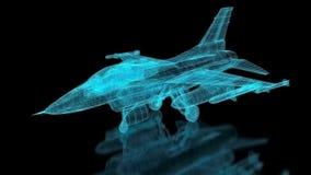 Myśliwa Odrzutowego samolotu siatka ilustracja wektor