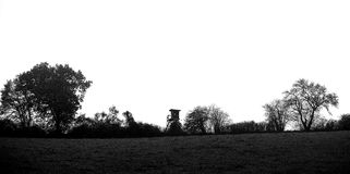 Myśliwego siedzenia wysoka wieś Fotografia Stock