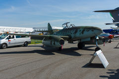 Myśliwiec Messerschmitt Ja 262 B-1a Schwalbe nowożytna replika Zdjęcia Stock