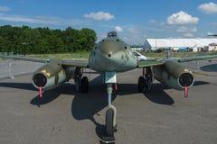 Myśliwiec Messerschmitt Ja 262 B-1a Schwalbe Nowożytna replika Aerobus grupą Zdjęcie Royalty Free
