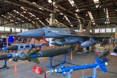 Myśliwiec odrzutowy i bronie Fotografia Royalty Free