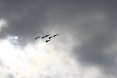 myśliwscy współczesne samoloty. Zdjęcie Royalty Free