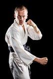 Myśliwska spełnianie karate postawa obraz stock