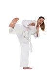 Myśliwska spełnianie karate postawa zdjęcia royalty free