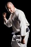 Myśliwska spełnianie karate postawa obrazy royalty free