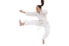 Myśliwska spełnianie karate postawa zdjęcia stock