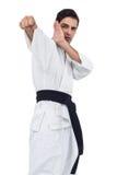 Myśliwska spełnianie karate postawa obraz royalty free