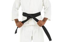 Myśliwski naciągowy karate pasek fotografia stock