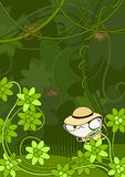 myśliwy dżungla ilustracja wektor