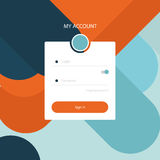 My account user interface Royalty Free Stock Photography