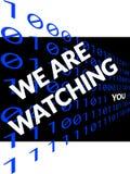 My Ae Ogląda Ciebie na czerni Fotografia Stock