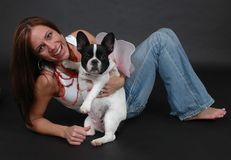 My Angel Puppy stock photography