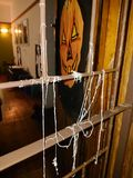 Halloween in South Africa 1. My apartment front door in Durban, South Africa awaiting the trick or treaters Stock Image