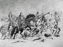 My Art `The Battle Of The Ice` Royalty Free Stock Image