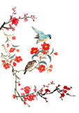 My art work-- plum blossom and bird Royalty Free Stock Image