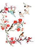 My art work-- plum blossom and bird Royalty Free Stock Photo