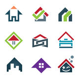 My beautiful sweet home icon set family locator Stock Photos
