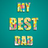 My Best Dad Stock Image