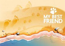 My Best Friend royalty free illustration