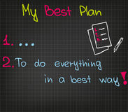 My best plan royalty free illustration