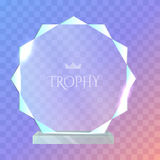 My Best Trophy. Round Glass Award with Cutters Royalty Free Stock Images
