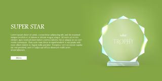 My Best Trophy. Round Glass Award with Cutters Stock Photography