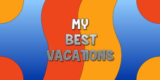 My best vacations Stock Photography
