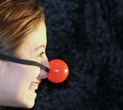 My Big Red Nose Stock Photo