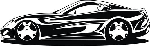 Free My Black And White Design Car Royalty Free Stock Photography - 66450477