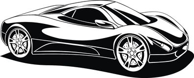 My black and white design car Royalty Free Stock Image