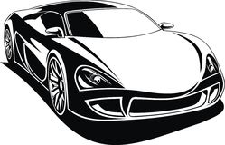 My black and white design car Royalty Free Stock Photography