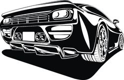 My black and white design car Royalty Free Stock Photos