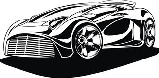 My black and white design car Stock Images