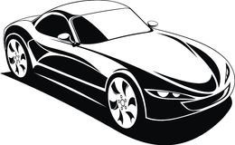 My black and white design car Royalty Free Stock Images