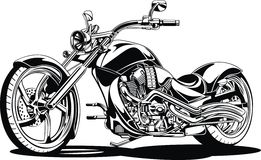 My black and white motorbike design. My original black and white motorbike design Stock Image