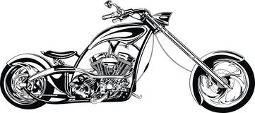 My black and white motorbike design. My original black and white motorbike design Royalty Free Stock Photos