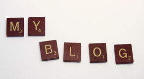MY Blog. Spelled out with block letters royalty free stock photography