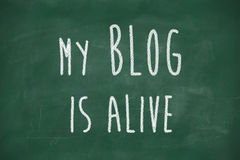 My blog is alive phrase Royalty Free Stock Photography