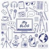 My Blog Set Sketch Stock Photos