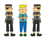 My bodyguards vector illustration