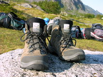 My boots. After hiding in Norway Stock Image