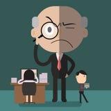 My boss  strict Stock Image