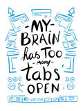 My brain has too many tabs open Stock Images