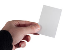 This is my business card. A hand holding a business card Stock Photos