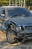 My car accident. My Old car accident break broken stock images